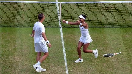 Heather Watson reaches Wimbledon mixed doubles final alongside Henri Kontinen