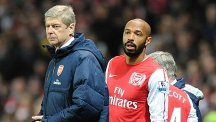 Thierry Henry, right, has praised Arsene Wenger, left, for his achievements at Arsenal