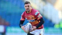 Danny Brough scored a try on his 150th appearance for Huddersfield as he helped the Giants down his former club Hull