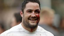 Ireland boss Joe Schmidt believes Brad Barritt, pictured, can help England form a formidable midfield