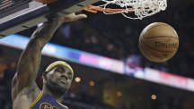 LeBron James starred in Cleveland's win over Golden State (AP)