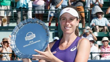 Konta beats Williams for first WTA title