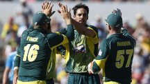 Mitchell Johnson was Enngland's tormentor once more (AP)