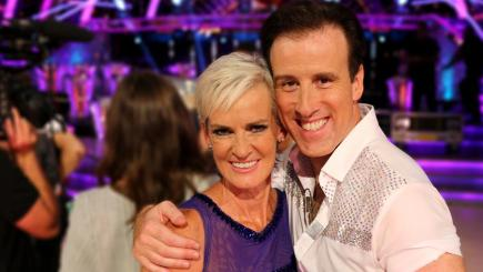 Judy Murray with her Strictly Come Dancing partner Anton du Beke, courtesy of @BBCStrictly