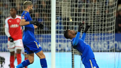 Leicester through as VAR gives first goal in England