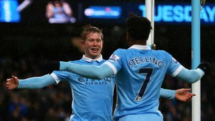De Bruyne at the double in Man City triumph