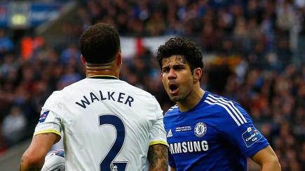 Kyle Walker and Diego Costa
