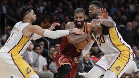 Kyrie Irving leads Cleveland Cavaliers to an NBA play-off place