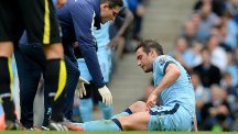 Frank Lampard picked up an injury in Manchester City's encounter with Tottenham