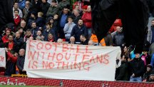 Liverpool fans' ticket price protest did not have any bearing on the result, according to coach Pepijn Ljinders.