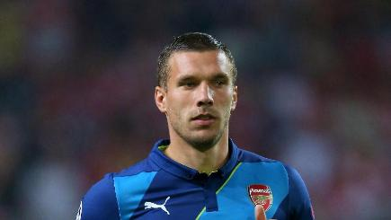 Arsenal's Lukas Podolski netted a late winner