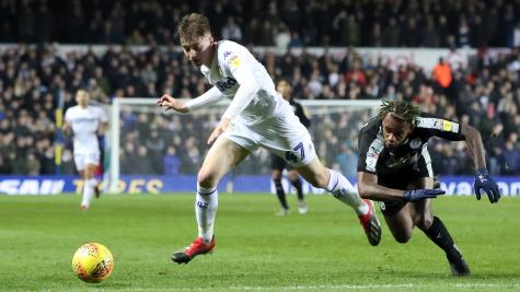 Leeds' Jack Clarke taken to hospital after collapsing in dugout during game