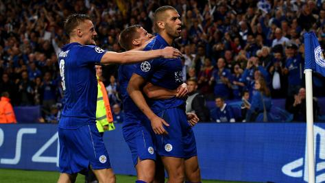 Leicester's Vardy ends goal drought in 2-1 loss at Sevilla