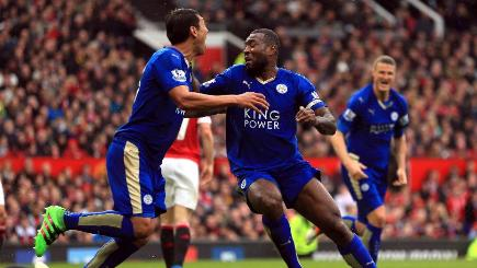 Wes Morgan scored Leicester's equaliser