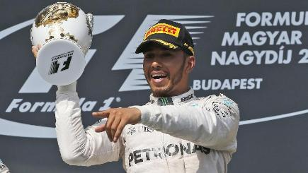 Lewis Hamilton has won the Hungarian Grand Prix for a fifth time (AP)