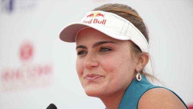 Lexi Thompson claimed a share of the lead after the opening day in France - lexi-thompson-starts-well-to-take-the-early-lead-in-the-evian-championship-136400315237803901-150911060726