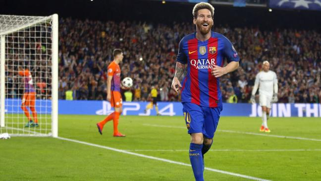 1b091338852 Lionel Messi hits hat-trick as Manchester City are well-beaten at Barcelona