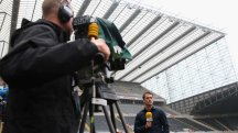BT Sport's Michael Owen prepares to present live from St James' Park