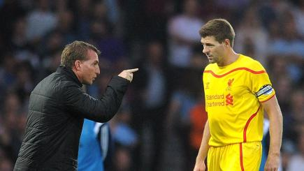 Liverpool boss Brendan Rodgers and his captain Steven Gerrard