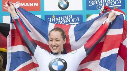 Lizzy Yarnold completed her title haul last month (Image: Facebook)