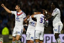 Lyon's Jordan Ferri celebrates scoring against PSG