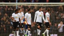 Man United react to conceding to Aston Villa