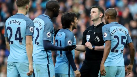 Manchester City charged with failing to control their players against Liverpool