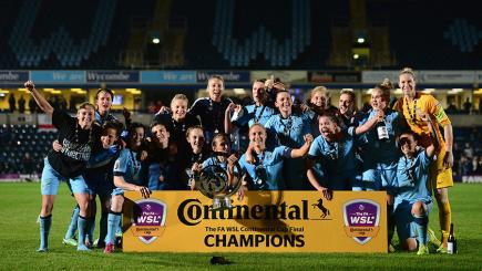 Manchester City lifted the Continental Cup after beating Arsenal