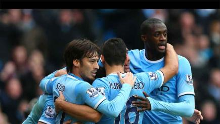 Manchester City stars Aguero, Toure and Silva