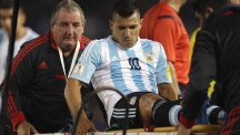Sergio Aguero suffered his injury while on international duty (AP)