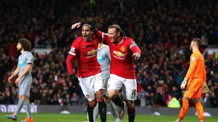 Manchester United duo Wayne Rooney and Radamel Falcao
