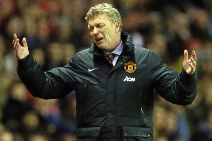 Manchester United manager David Moyes during the League Cup defeat at Sunderland.
