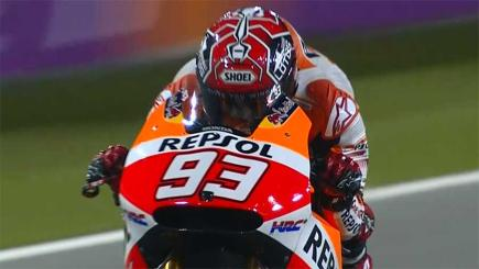 Marc Marquez set the early MotoGP pace in Qatar.