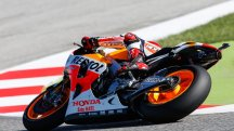 Marquez crashes chasing Rossi and finishes 15th
