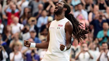 Dustin Brown, pictured, beat two-time champion Rafael Nadal in the second round on Thursday