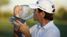 Ben Martin claimed his first PGA Tour title with victory in Las Vegas (AP)
