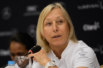 "Martina Navratilova feels there is still a ""double standard"" for men and women in sport"