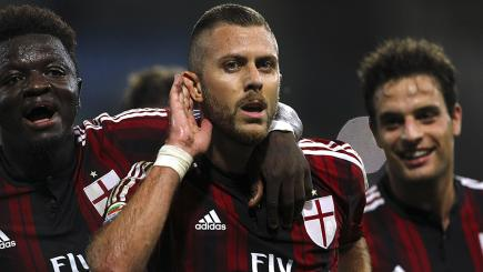 Menez scored an incredible backheel goal for AC Milan