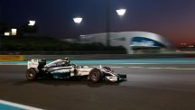 Nico Rosberg will start Sunday's Abu Dhabi GP from pole position