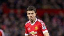Michael Carrick, pictured, and his Manchester United team-mates were denied victory at Chelsea by Diego Costa's stoppage-time goal