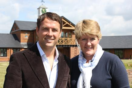 Michael Owen and Clare Balding