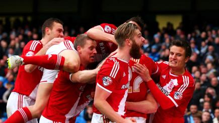 Middlesbrough celebrate FA Cup win at Man City