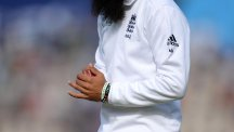 Moeen Ali was seen wearing his Gaza wristbands on day two of the third Test against India
