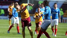 Bilel Mohsni, right, clashed with Lee Erwin, left