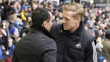 Garry Monk, right, and Roberto Martinez remain close friends