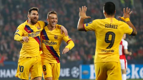 More history for Messi as Barca battle past Slavia Prague