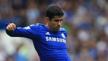 Diego Costa was absent from Chelsea's open training session on Tuesday