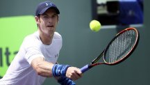 Andy Murray, pictured, beat Donald Young in Miami (AP)