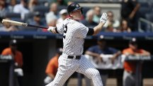 Chase Headley recorded a two-run double in New York Yankees' victory over Houston Astros (AP)