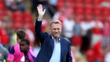 New Sunderland manager David Moyes acknowledges the fans after the pre-season friendly at Rotherham